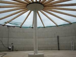 Innen- und Außenisolierung einer Biogasanlage